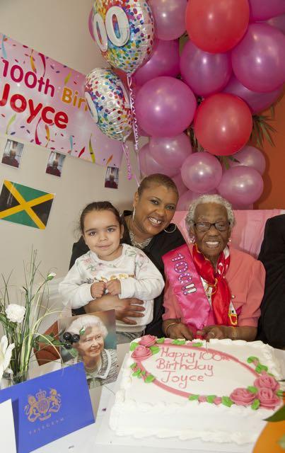 Right Joyce Hixon resident at HCHA's Ewart House extra care scheme with her friend Doreen Sandiford,